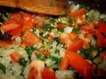 Немного обжарьте содержимое сковородки и залейте водой, чтобы получился густой, насыщенный соус. Залейте этим соусом перцы и тушите до готовности (минут 10-15)