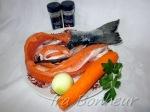 Лосось — спинка или животики, хвост, можно взять голову, удалив жабры Морковь — 1 шт Репчатый лук — 1 шт Брокколи — 0, 200 гр Приправы и специи - по вкусу