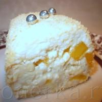 Сладкие суши из печенья, воздушного творога и манго
